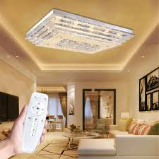Deckenleuchte Deckenlampe Dimmbar Led Kristall 36w