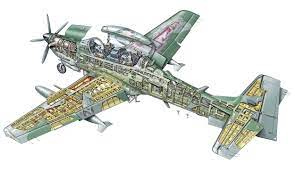 Embraer EMB 314 Super Tucano Cutaway Drawing in High quality