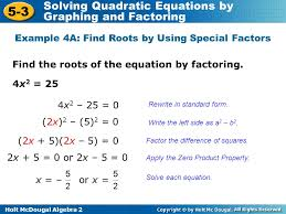 holt mcdougal algebra 2 solving quadratic equations by graphing holt algebra 2 5 3