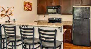 kitchen area at the off campus student housing university of northern colorado