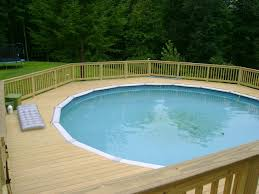 contemporary pool why you need a deck around your pool in u above ground
