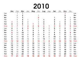 Calendari 2010 Da Stampare