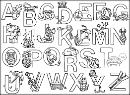 Printable Animal Alphabet Coloring Pages Color Zini