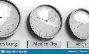 Clock Shows Mexico City, Mexico Time ...