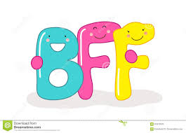 cute smiling cartoon characters letters bff best friends forever can be used as banner greeting card world friendship