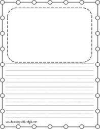 printable handwriting paper for kindergarten first grade writing paper bie