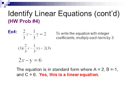 identify linear equations cont d hw prob 4