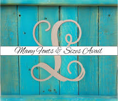 wooden monogram letter quotlquot large or small unfinished cursive wooden letter perfect for crafts diy weddings sizes 1quot to 42quot