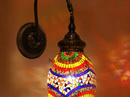 turkish style lighting. Colorful Turkish Style Mosaic Lighting Wall Sconce