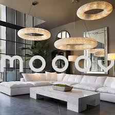 modern large and luxury round ring led egyptian crystal chandelier for hotel image