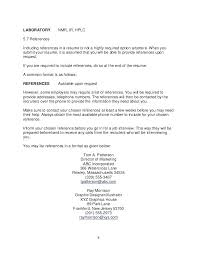 Resume Reference List Format Foodcity Me