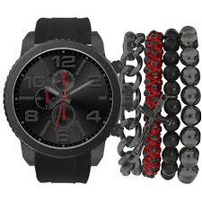 mens american exchange watch set mst5131bk100 271 boscov s mens american exchange watch set mst5131bk100 271