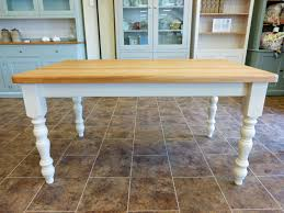 Farmhouse Kitchen Tables Uk Painted Farmhouse Tables Choose Your Size Painted Dining