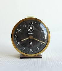 vintage french alarm clock jaz discreto 60 s 70 s retro table clock wind up desk clock collectible