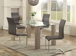 weathered wood dining table. Modern Dining Table Set With 4 Chairs (arch Design) Glass Top Surface Wooden Looking Legs. Weathered Wood C
