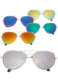 color mirrored aviator sunglasses