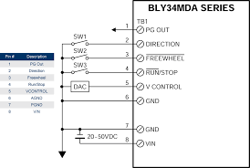blymda brushless motors integrated speed controllers brushless dc motors bly34mda wiring