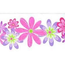 Flower Wall Paper Border Purple Fairies Wallpaper Border Girls Room Fairy Wallpaper Border