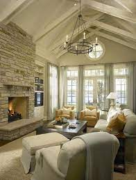 add decor to your vaulted ceilings