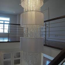custom lighting foyer chandelier smooth crystal glow lighting square