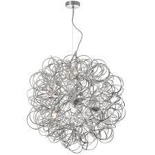 baya 8 light 24 gold wire round pendant chandelier