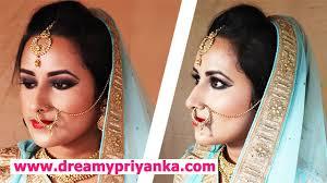 best indian bridal makeup step by step tutorial image