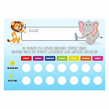 Tooth Brushing Schedule Reward Chart With Stickers