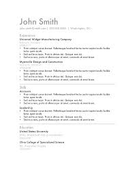 Office 2010 Resume Templates Resume Letter Directory