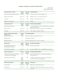 Sample Resume Extracurricular Activities Extracurricular Activities Resume Sample DiplomaticRegatta 7