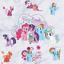 my little pony 3d wall stickers home decor sarahsale com