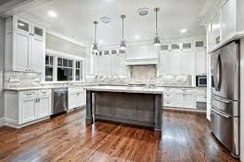 White And Grey Marble Countertop Contemporary Maple Kitchen Cabinets