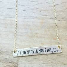 30pcs fashion i love you to the moon back lettering necklace with moons and stars