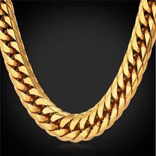 13MM Big Chunky <b>HipHop</b> Gold Chain For Men 18K <b>Gold Plated</b> ...