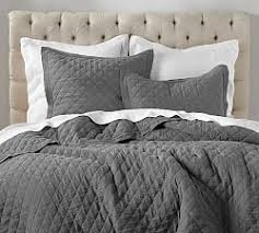 charcoal grey bedding. Fine Charcoal Belgian Flax Linen Diamond Quilt U0026 Sham  Charcoal  And Grey Bedding M