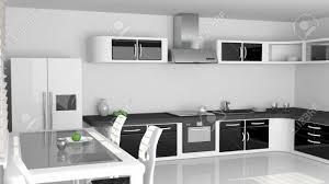Cuisine Moderne Blanche Et Noire Design De Maison
