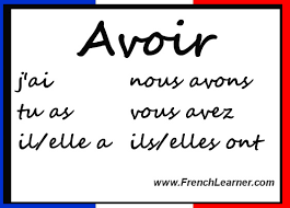 French Verb Tenses Chart Avoir Conjugation Chart