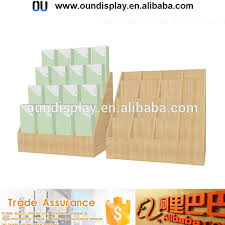 Wooden Greeting Card Display Stand acrylic greeting cards shelfYuanwenjun 89