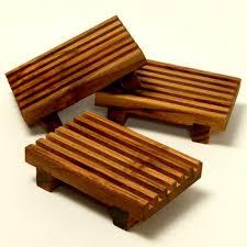teak wooden soap dish