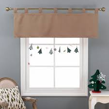 tab top valance. Beautiful Tab NICETOWN Modern Home Decorations Thermal Insulated Solid Blackout Tab Top  Valance Curtain  Drape For Kitchen Windowin Curtains From U0026 Garden On  With N