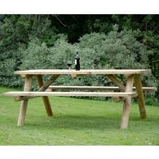 forest picnic table 6 seater round legs