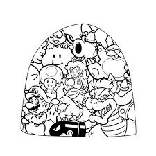 Immagini Di Super Mario Az Colorare