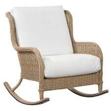 lemon grove custom wicker outdoor rocking chair