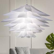 Lampe Chrom Schlafzimmer Pendelleuchte Hängelampe Weiß Beleuchtung
