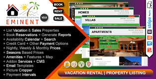 Listing Property For Rent Eminent Vacation Rental Property Listing Real Estate Portal Php