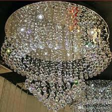 flush crystal chandelier modern mount ceiling lamp candice chrome and semi f
