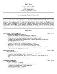 Automotive Resume Free Sample Resumes