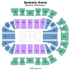 Spokane Arena Spokane Tickets Schedule Seating Chart