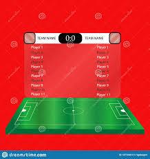 Soccer Playing Time Chart Lacrosse Football Soccer Scoreboard Chart Stock Illustration