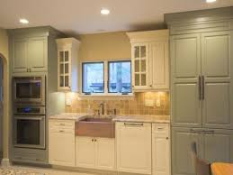 Green Kitchen Cream Cabinets Ivory With Sage Accents Ideas