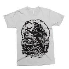 пиратский корабль футболка татуировки альтернатива падение мертвых отказаться